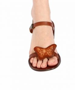Big Butterfly Leather Sandals 1 247x296 - Big Butterfly Leather Sandals
