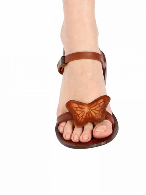 Big Butterfly Leather Sandals 1 510x680 - Big Butterfly Leather Sandals