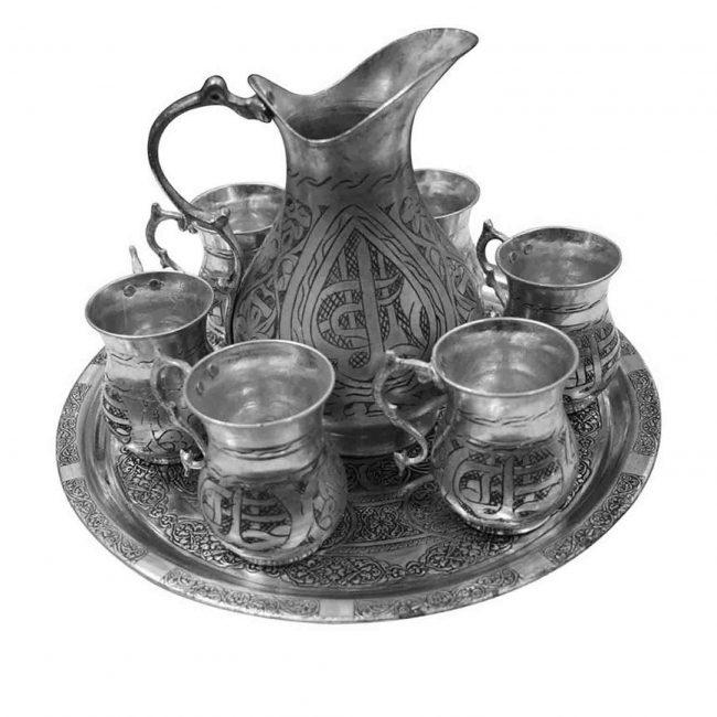 Turkish copper pitcher copper ibrik and antique copper jug set for sale.
