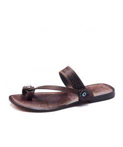 Flower Toe Thong Flip Flops brown sandals left 248 1906 247x296 - Flower Toe Thong Flip Flops