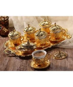 Golden Handmade Copper Turkish Coffee Set 247x296 - Golden Handmade Copper Turkish Coffee Set