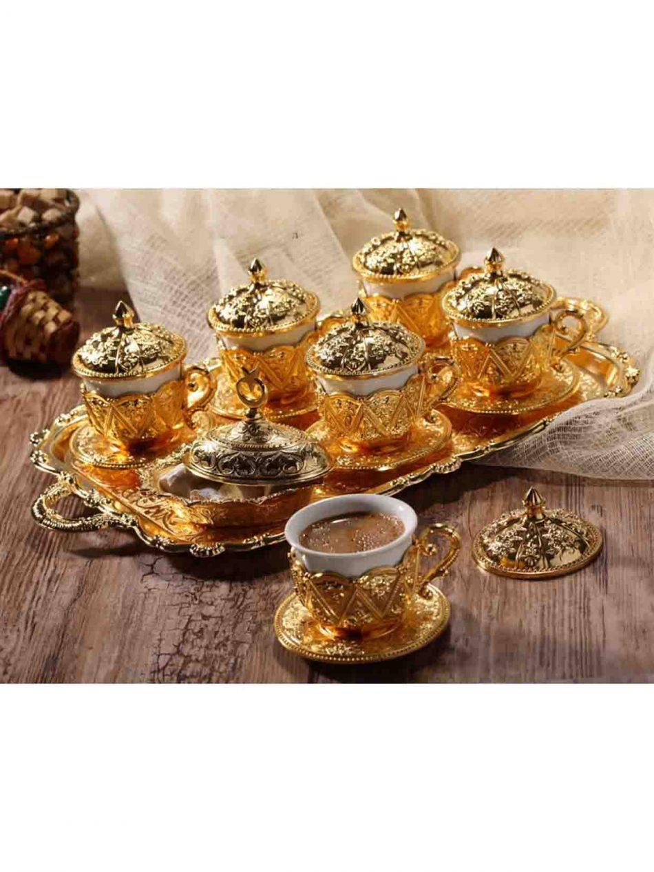 Golden Handmade Copper Turkish Coffee Set 950x1267 - Golden Handmade Copper Turkish Coffee Set
