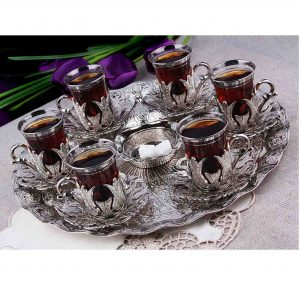 hand-hammered-copper-tea-set