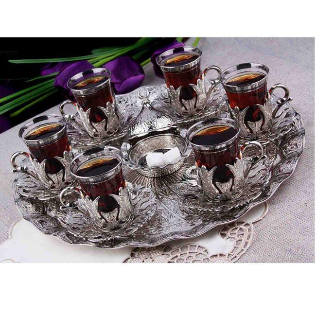 Vintage antique old Turkish copper Tea set for sale