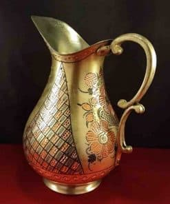 Hand Painted Copper Pitcher 247x296 - Home
