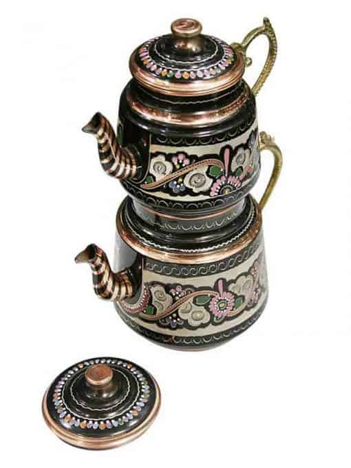 Hand Painted Turkish Copper Teapot 510x680 - Hand Painted Turkish Copper Teapot
