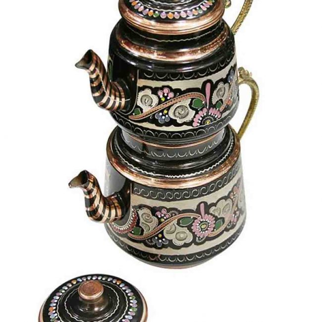 Hand Painted Turkish Copper Teapot 650x650 - Hand Painted Turkish Copper Teapot