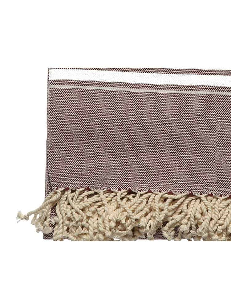 Hand Weaving Set Brown 1 - Hand Weaving Pestemal Set
