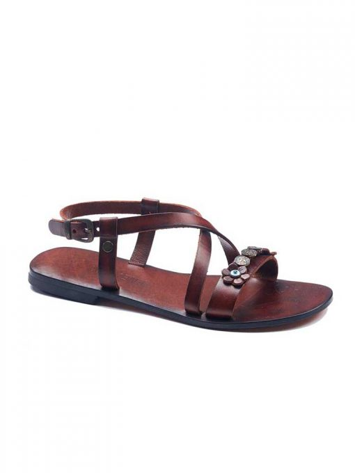 Metallic Detail Sandals bodrum sandals evaterm sag 136 1894 510x680 - Metallic Detail Sandals