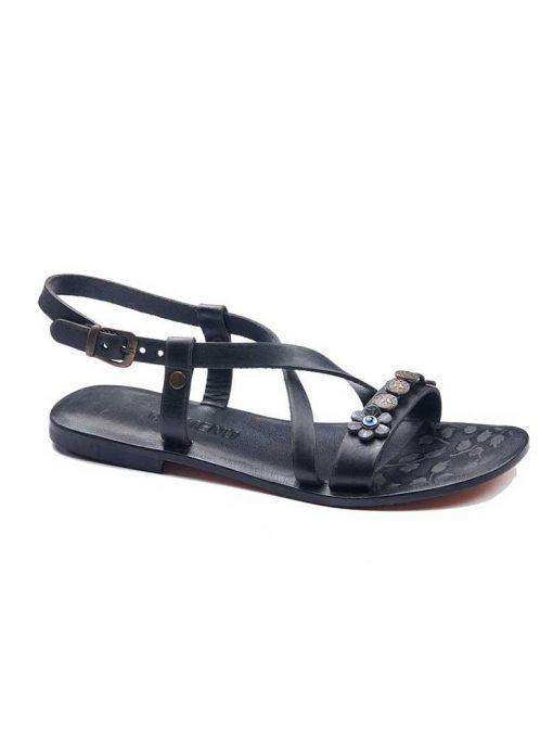 Metallic Detail Sandals bodrum sandals evaterm sag 136 1912 510x680 - Metallic Detail Sandals