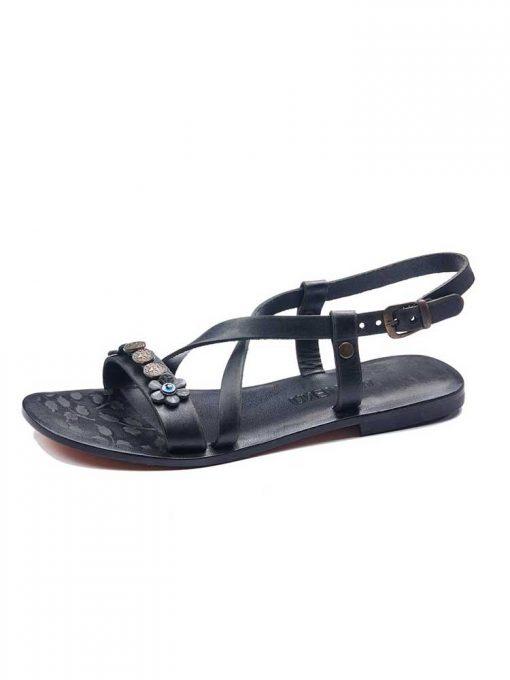 Metallic Detail Sandals bodrum sandals evaterm sol 136 1912 510x680 - Metallic Detail Sandals
