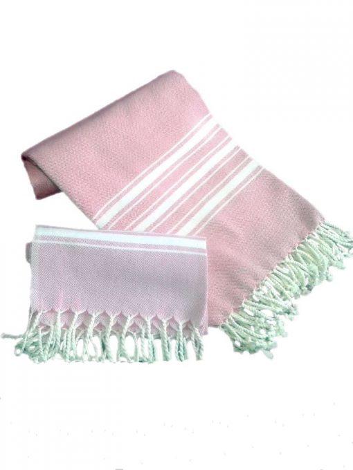 Peshtemal Peshkir Set Pink 3 510x680 - Peshtemal Peshkir Set