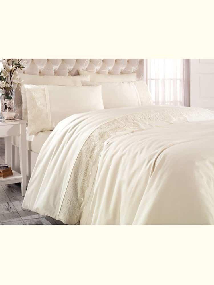 pure beige loren bedding set