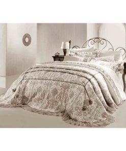 Pure Beige Selender Bedspread Set 247x296 - Pure Beige Selender Bedspread Set