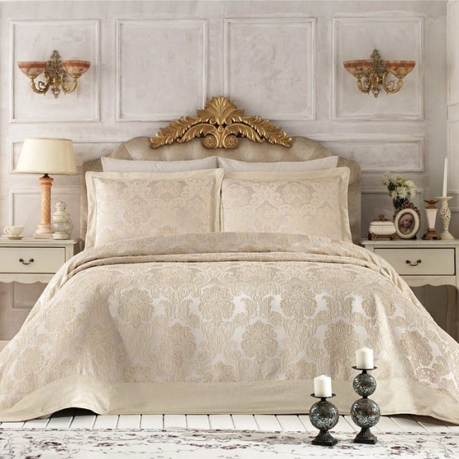 Pure Royal Beige Bedspread Set2 650x650 - Pure Royal Beige Bedspread Set