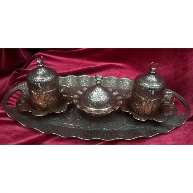 Turkish Coffee Copper Espresso Set 650x650 - Turkish Coffee Copper Espresso Set