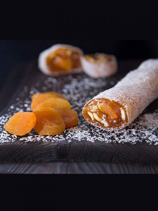 Turkish Delight Apricot Covered Coconut