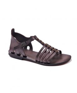 basic leather brown sandals 1 247x296 - Basic Leather Brown Sandals