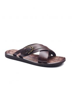 basic leather flip flops 2 247x296 - Basic Leather Flip Flops For Men