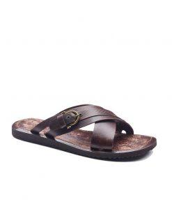 basic leather flip flops 2 247x296 - Basic Leather Flip Flops For Men