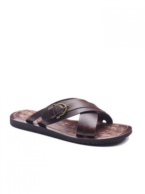 basic leather flip flops 2 510x680 - Basic Leather Flip Flops For Men
