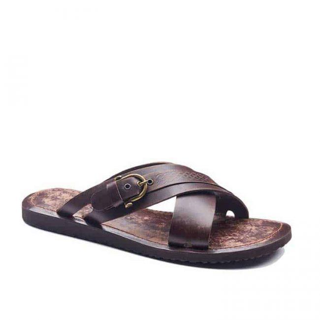 basic leather flip flops 2 650x650 - Mens Leather Slides Sandals