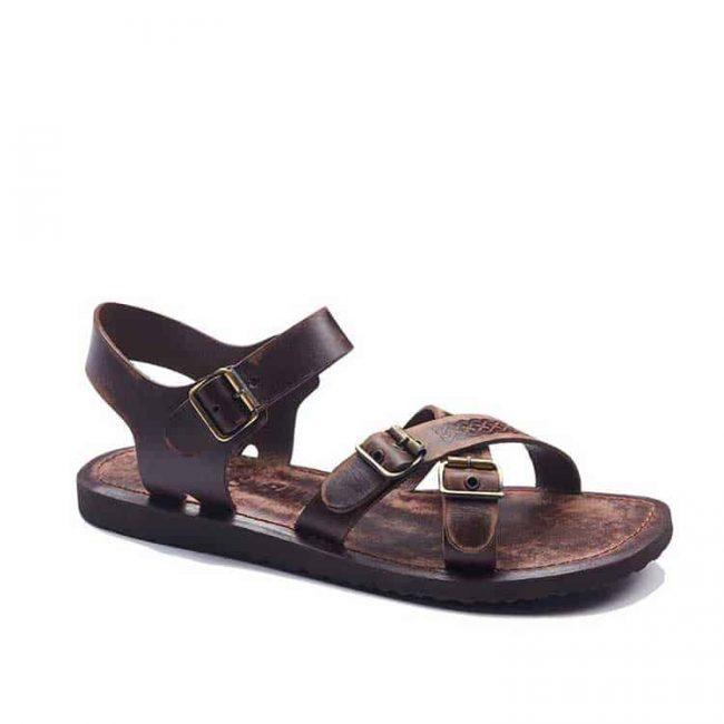 basic metallic detail leather sandals 2 650x650 - Basic Metallic Detail Leather Sandals For Mens