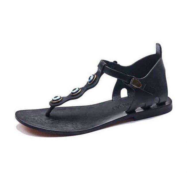 beaded toe thong sandals women 6 650x650 - Beaded Toe Thong Sandals Leather Sandals For Women