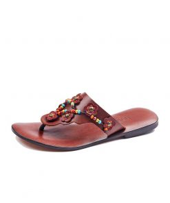 beaded-up-leather-flip-flops