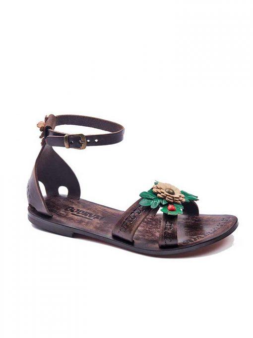 big flower leather sandals women 1 510x680 - Big Flower Leather Sandals