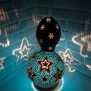 blue-star-gourd-lamp-gourd-art