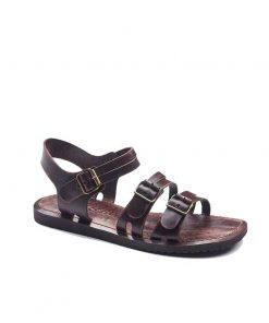 bodrum sandals men evaterm sag 1941 247x296 - Basic Brown Leather Sandals For Men