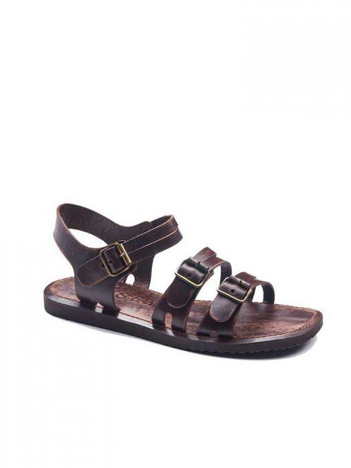 bodrum sandals men evaterm sag 1941 510x680 - Basic Brown Leather Sandals For Men