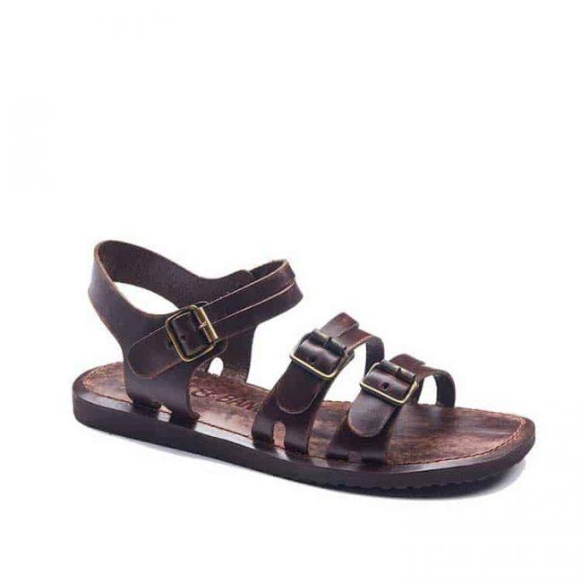 bodrum sandals men evaterm sag 1941 650x650 - Basic Brown Leather Sandals For Men