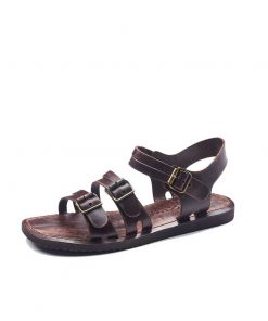bodrum sandals men evaterm sol 1941 247x296 - Basic Brown Leather Sandals For Men