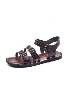 bodrum sandals men evaterm sol 1941 247x296 - Basic Brown Leather Sandals For Men