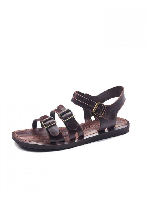 bodrum sandals men evaterm sol 1941 510x680 - Basic Brown Leather Sandals For Men