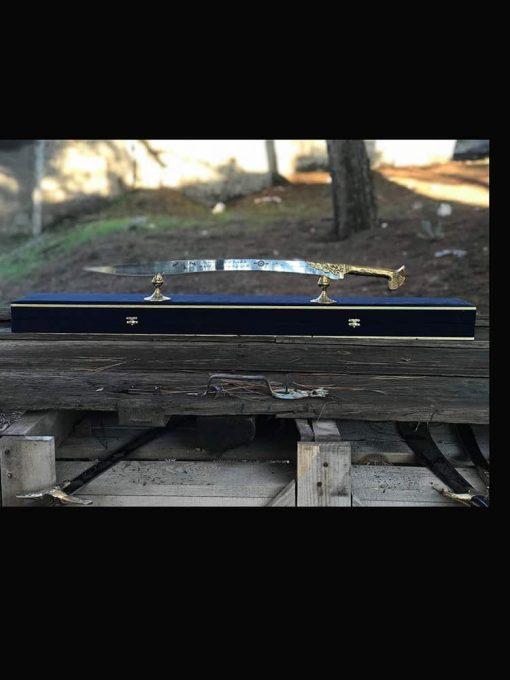 brass yataghan sword decorative 1 510x680 - Brass Yataghan Sword