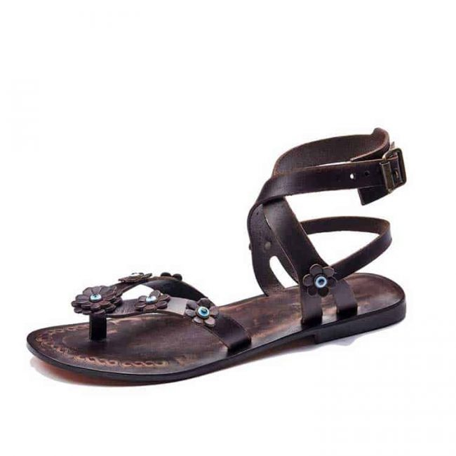 brown-flowers-leather-sandals
