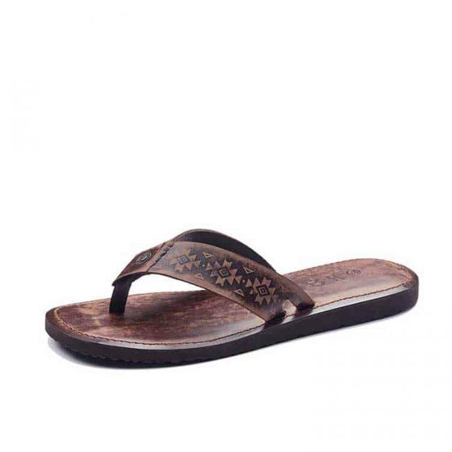 mens leather flip flops