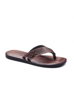 casual toe thong leather 2 247x296 - Casual Toe Thong Leather Flip Flops For Men