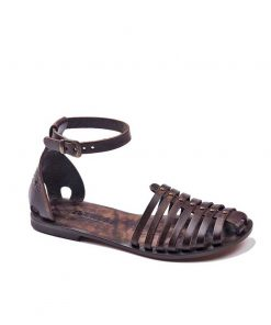 classic brown leather sandals women 1 247x296 - Classic Brown Leather Sandals