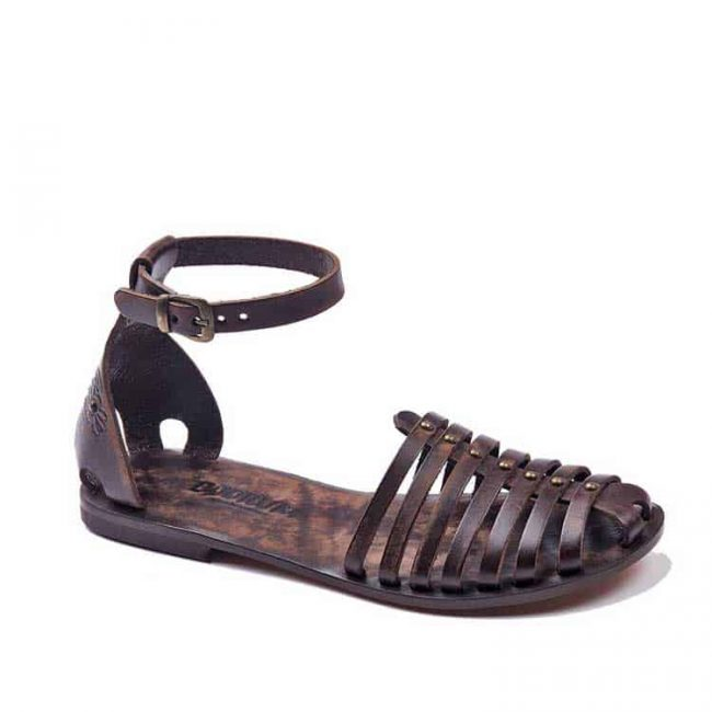 classic brown leather sandals women 1 650x650 - Classic Brown Leather Sandals