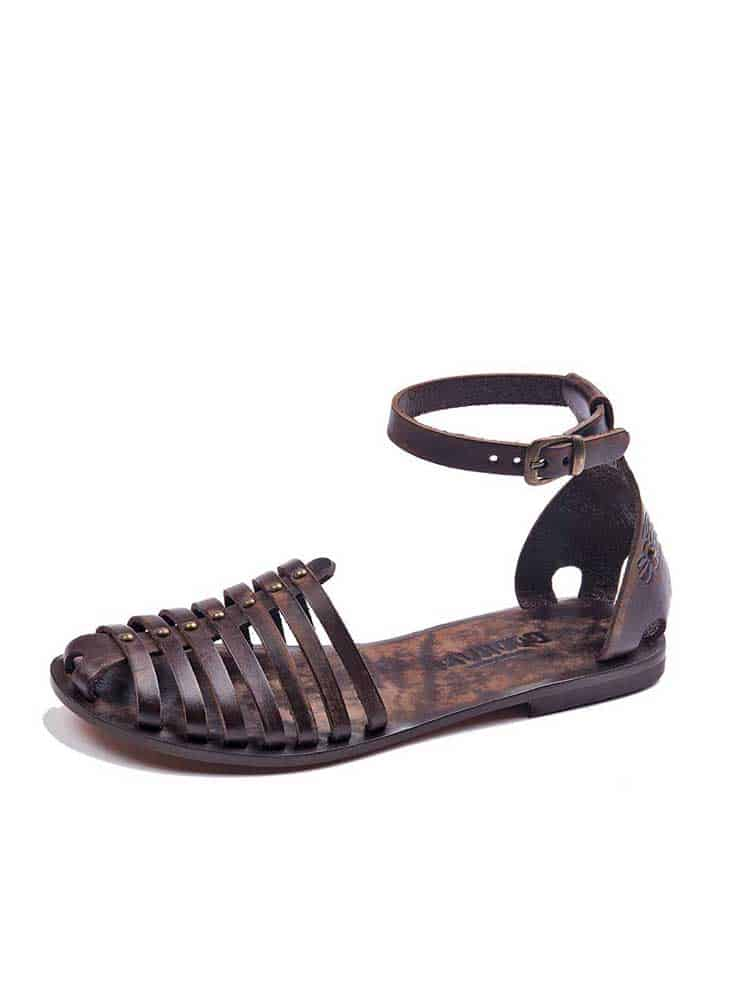 3762f4e04 Classic Brown Leather Sandals