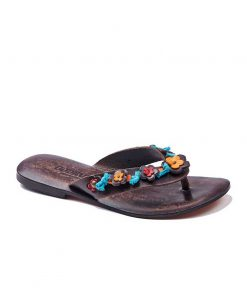 colorful leather flip flops women 1 247x296 - Colorful Leather Flip Flops