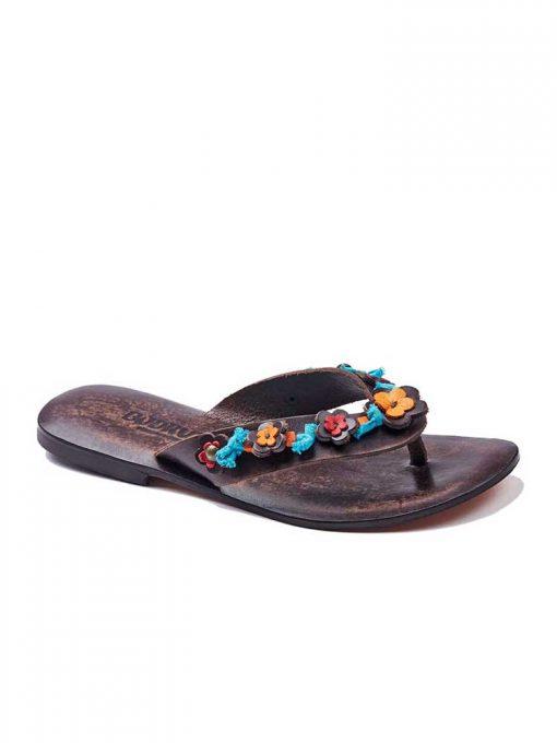colorful leather flip flops women 1 510x680 - Colorful Leather Flip Flops