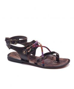 colorful strapped sandals women 1 247x296 - Colorful Needle Lace Sandals