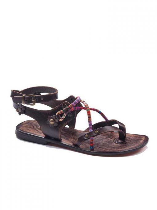 colorful strapped sandals women 1 510x680 - Colorful Needle Lace Sandals