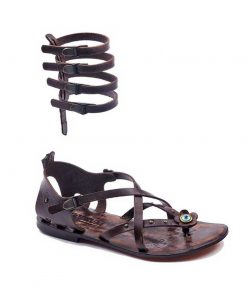 cross strapped leather gladiator sandals 4 247x296 - Cross Strapped Leather Gladiator Sandals
