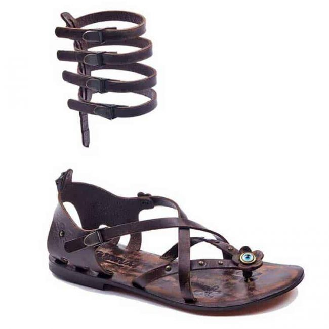 cross strapped leather gladiator sandals 4 650x650 - Cross Strapped Leather Gladiator Sandals